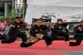 mahasiswa Psikologi perform pencak silat di sewindu UPJ 19 sept 19