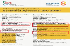apresiasi sewindu UPJ untuk dosen dan prodi Psikologi